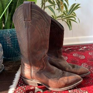 Frye Billy pull on cowboy boot